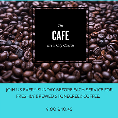 Join us in our cafe for coffee every Sunday morning